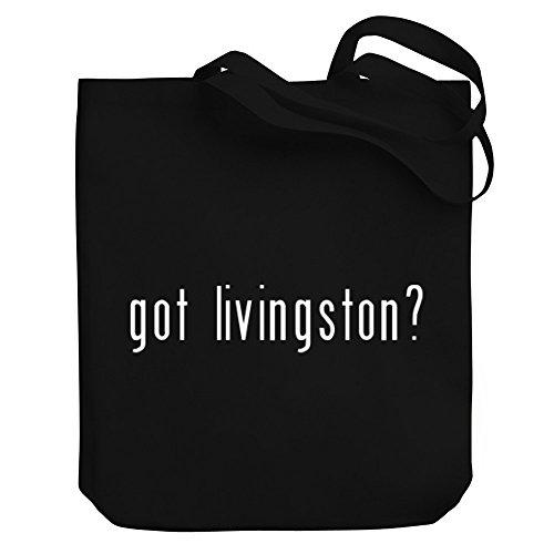 Teeburon Got Livingston? Canvas Tote - Shopping Livingston