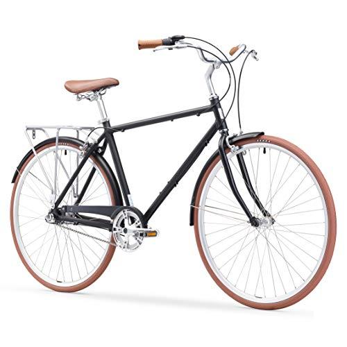- sixthreezero Ride In The Park Men's 3-Speed Touring City Bike, 700x32c Wheels, Matte Black, 18