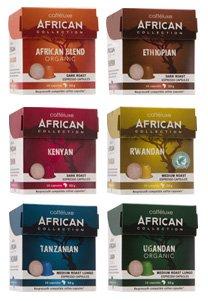 Caffeluxe African Collection Espresso Bundle Pack for Nespresso OriginalLine Machines (Rwandan, Ethiopian, Kenyan, Ugandan, Tanzanian and African Blends) (10 Capsules each, $.52 per capsule)