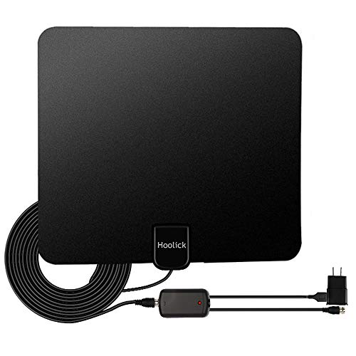 Digital TV Antenna, Hoolick HDTV Antennas Indoor 1080P 50 Miles Range with Anti-interference Detachable Amplifier Signal Booster for Smart TV, 13.3ft Coax Cable by Hoolick