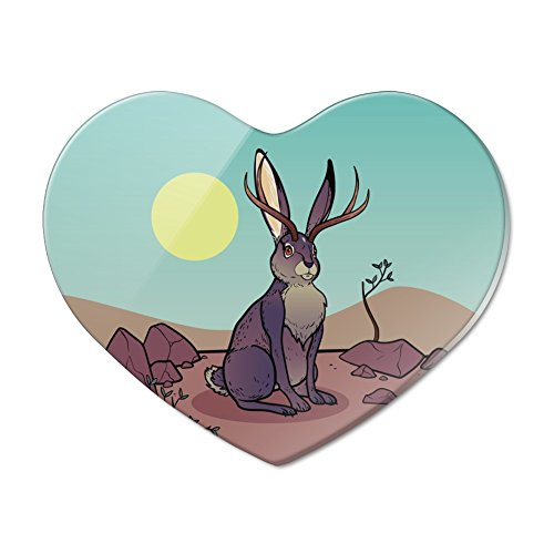 Cartoon Jackalope Heart Acrylic Fridge Refrigerator for sale  Delivered anywhere in USA