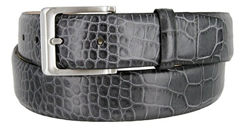 Calfskin Belt (Grove Men's Genuine Italian Leather Dress Belt (54,)