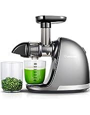 Amzchef Slow Juicer BPA-vrij, sapcentrifuge, Gem & Fruit, professionele sapcentrifuge met stille motor & omkeerfunctie & sapkan & reinigingsborstel 150 watt
