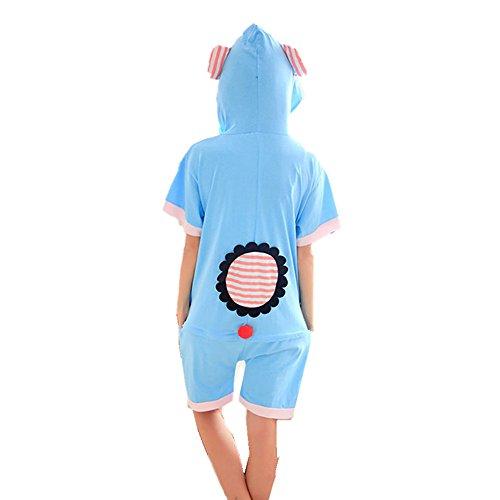 estiva donne e Cosplay Arcobaleno uomini manica sottili pigiama paio breve cotone Pajama unisex Fox di incappucciati elefante wBUTEq