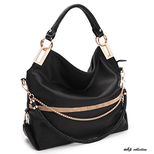 MKP Collection Fashion & Beautiful Hobo Bag~Designer Woman Purse~Multi-color choose Tote/Handbag (7350) Black