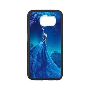 Samsung Galaxy S6 Cell Phone Case Black_Elsa Frozen Queen Disney Illust Snow Art Ynykh