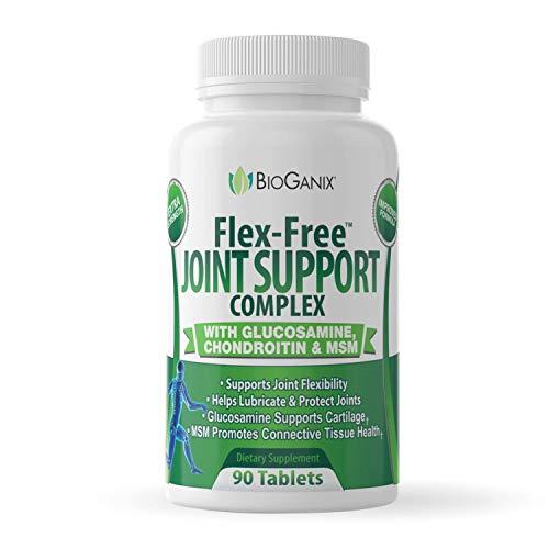 Bioganix Joint Support Anti-inflammatory Supplement with Glucosamine, Chondroitin and MSM, 90 Capsules