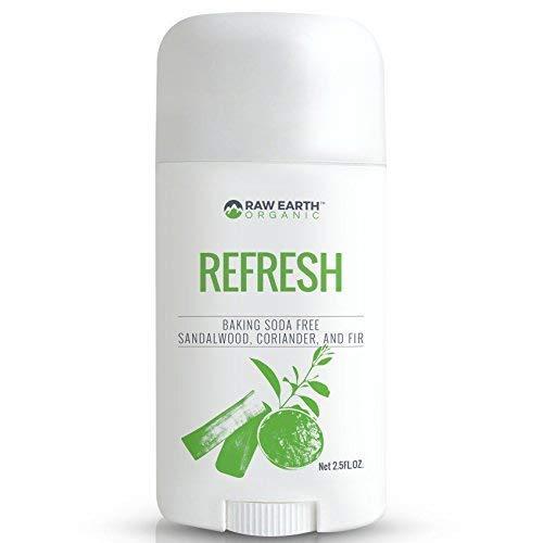 Raw Earth Organic All Natural Vegan Magnesium Deodorant - Baking Soda & Aluminum Free - Sandalwood / Coriander / Fir (2.5oz)