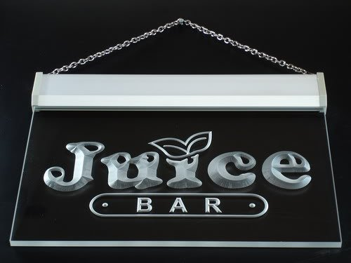 Juice Bar Led Sign - Multi Color i084-c OPEN Juice Bar Cafe Restaurant Neon LED Sign with Remote Control, 20 Colors, 19 Dynamic Modes, Speed & Brightness Adjustable, Demo Mode, Auto Save Function