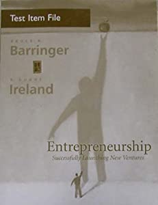 Paperback Entrepreneurship : Successfully Launching New Ventures Book