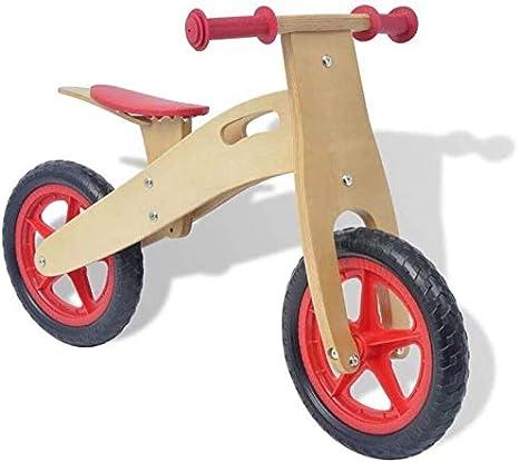 XIUYU Bicicletas 3 años de Madera, Ciclo de Formación Ligero, con Ajustable Manillar y el Asiento for el niño Niño Niña Primer cumpleaños Rojo Regalo
