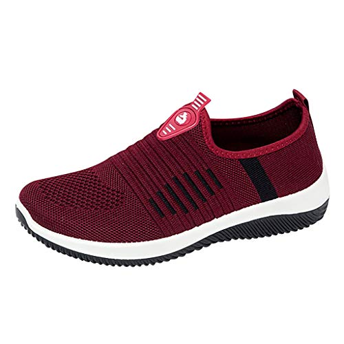 Women Sport Shoes,2019 New Athletic Walking Casual Mesh-Comfortable Work Sneakers (US:6, Red) -