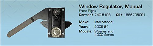 International Window Regulator Med Duty S- Series and 4000 Series 2005-84 by A&I,FT