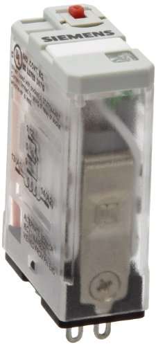 (Siemens 3TX7110-5JC13 Premium Plug In Relay, Square Base, Narrow, Mechanical Flag, Push To Test, Lock Down Door, LED, SPDT Contacts, 20A Contact Rating, 24VAC Coil Voltage)