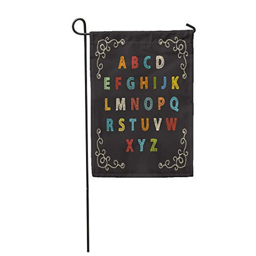 - Semtomn Garden Flag Crochet Embroidered Alphabet Letters Colorful Crocheted Knitted Pattern Patch 12