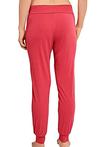 Schiesser Mix&Relax Jersey Yogahose Lang, Parte Inferior del Pijama para Mujer Rojo