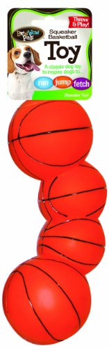 [Bow Wow Basketball Vinyl Squeaky Dog Toy] (Bow Wow Basketball)