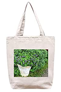 Lovely Tiny morado flores – algodón Canvas Tote Bag