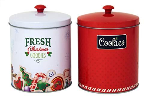 Holiday Tin Cookie Jars (2 Pack) - Food ()