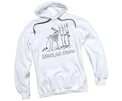 (Tattoo Art -- The Regular Show Adult Hoodie Sweatshirt, Large)