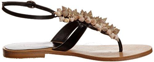 Unze Evening Sandals, Damen Sandalen Schwarz (L18518W)