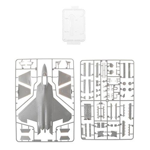 Perfk コレクション 1:72スケールモデル パズル 軍用 F-22ラプター軍戦ファイターモデル おもちゃ 誕生日 プレゼント