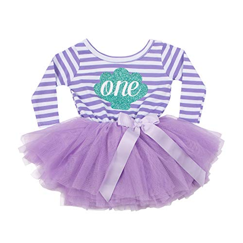 Grace & Lucille Purple Striped Long Sleeve Baby