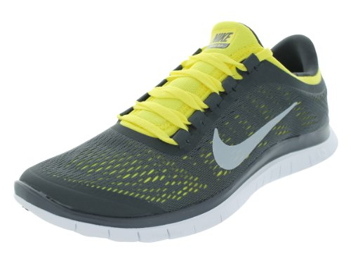 Nike Men's Free 3.0 V5 Anthracite/White/Sonic Yellow Running Shoes 8.5 Men US