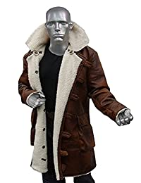 Bane Coat Shearling Brown Distressed Swedish Bomber Jacket