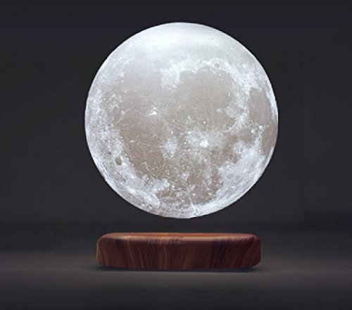 Magnetic Levitating 3D Printing Moon Lamp 5.9 in Wireless Powered, Floating LED Night Light