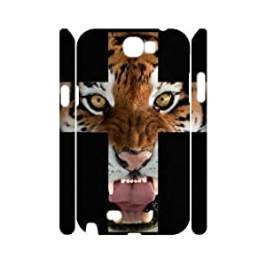 Tiger Roar Cross 3D-Printed ZLB515259 Custom 3D Phone For Case Samsung Galaxy Note 2 N7100 Cover