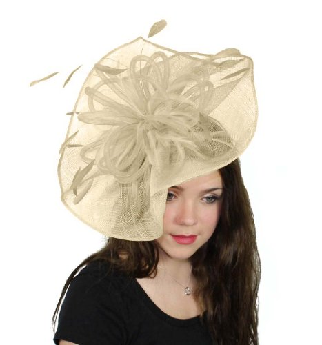 Hats By Cressida Highball Ascot Fascinator Hat Women's With Headband - Cream by Hats By Cressida