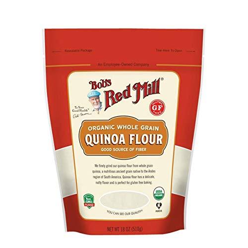 (Bob's Red Mill Resealable Gluten Free Organic Quinoa Flour, 18 Oz (4)