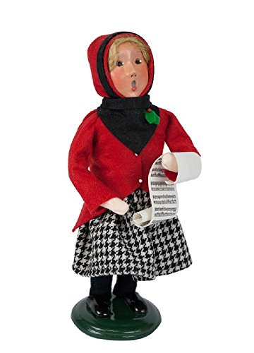 The Carolers Byers' Choice Douglas Girl Red and Black Christmas Figure 1184G by The Carolers