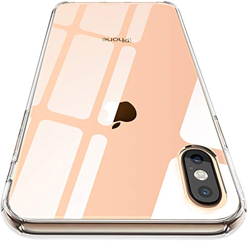 CASEKOO iPhone Xs Max Clear Case Ultra Hybrid Transparent Cover with Hard Back Soft TPU Bumper Compatible with iPhone Xs Max 6.5 inch 2018 [Frost Series]-Crystal Clear