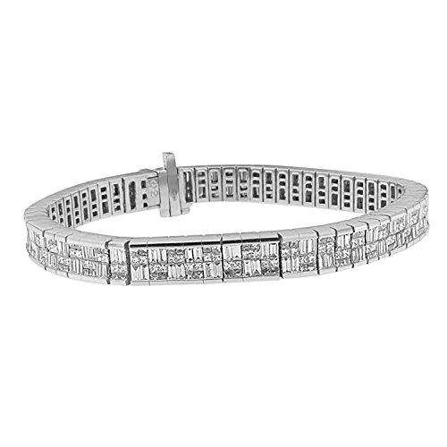 (Original Classics 14K White Gold Diamond Art Deco Bracelet (8 3/8 cttw, G-H Color, VS2-SI1)