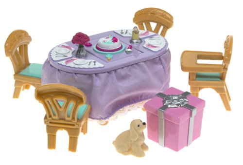 Fisher Price Loving Family Musical Surprise Party Set - Dining Room Dollhouse Flip Top