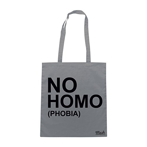 Borsa STOP HOMOFOBIA - Grigio - MUSH by Mush Dress Your Style