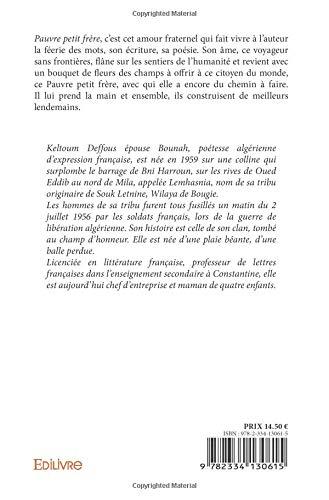 Pauvre Petit Frère French Edition Keltoum Deffous