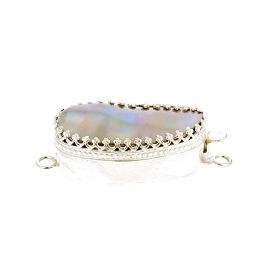 CHAMPAGNE MABE PEARL Clasp Large Sterling Stunning ()
