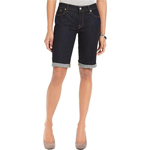 7 For All Mankind Women's Bermuda Denim Short, Ink Rinse, 26
