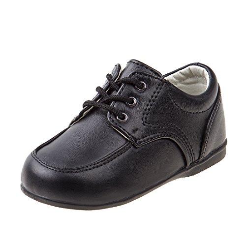 JOSMO Baby Boy's First Steps Walking Dress Shoe, Black, 5 M US Toddler
