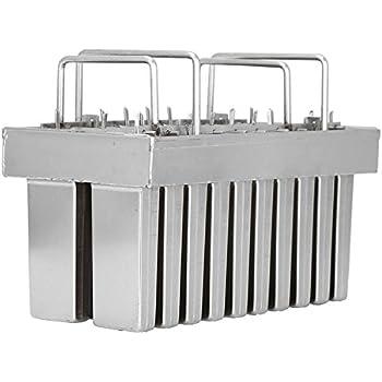20pcs Stainless Steel Molds for Popsicles Maker Ice Lolly Ice Cream Pops Bars Stick Holder (A)