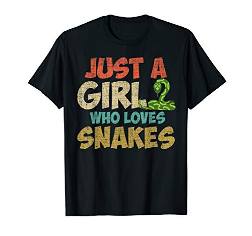 Just A Girl Who Loves Snakes T-Shirt Funny Snake Animal ()