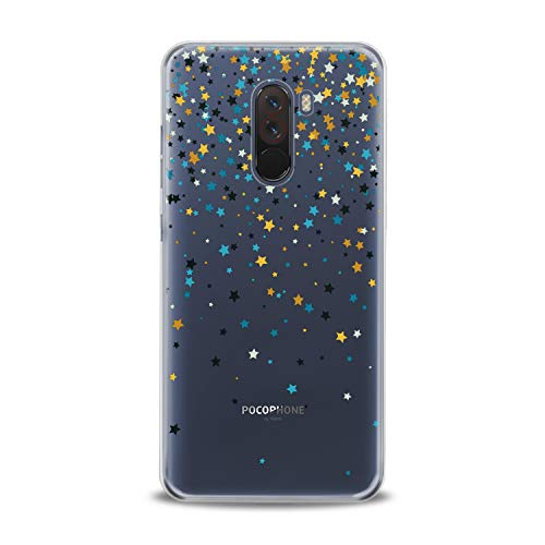 Lex Altern TPU Case for Xiaomi Mi 9 A2 A1 Note 3 8 SE Mix 2s 5X 6X 8X Gentle Stars Gift Clear Tender Soft Colored Slim fit Starfall Print Galaxy Flexible Lightweight Smooth Space Cover Design Awesome -
