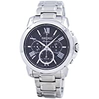 Seiko SSC597 Premier Solar Powered Chronograph Men's Watch (Black)