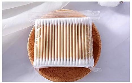 200 por paquete DDLBiz Bastoncillos de algod/ón con mangos de madera para maquillaje Color3