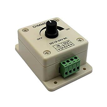 Potentiomètre Rotatif Avec Led 8 A Variateur 12 24 V mwNv8n0