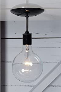 Semi Flush Mount Industrial Ceiling Light - Black