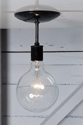 Semi Flush Mount Industrial Ceiling Light - Black